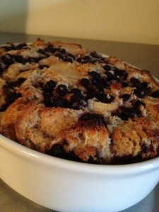 Wild Blue Bread Pudding