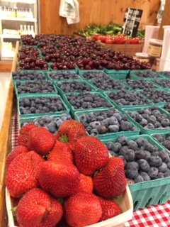 Our own farm fresh fruit in the Farmstand at Parlee Farms